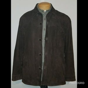 Brooks Brothers Brown Leather Jacket Size Large